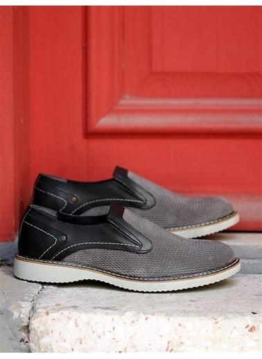 Rodrigo Erkek Gri Deri Detaylı Ayakkabı Gri